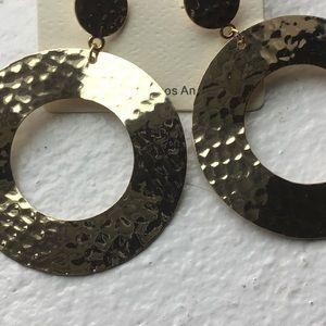 Jewelry - Hammered Metal Earrings